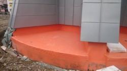 Vodotoranj Beltinci, Črenšovci, temeljna izolacija i izolacija ravnog krova